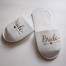 Slippers, bridesmaidslipper, Jewelry, gold