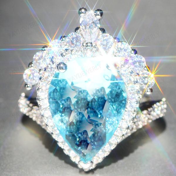 clusterring, wedding ring, 925 silver rings, Diamond Ring