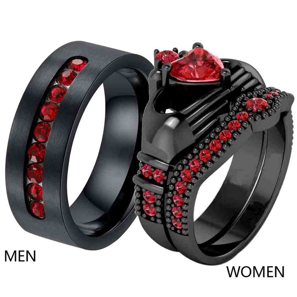Couple Rings, claddaghring, wedding ring, titanium