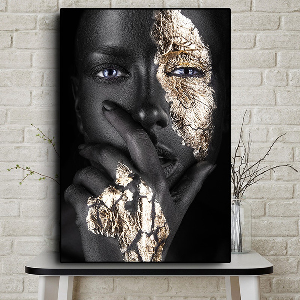 Home Decor Black and Gold Poster Art Print
