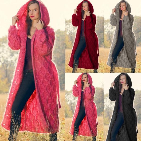 winter fashion, hooded, sweatercardigan, sweater coat