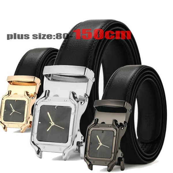Leather belt, leather, Buckles, Watch