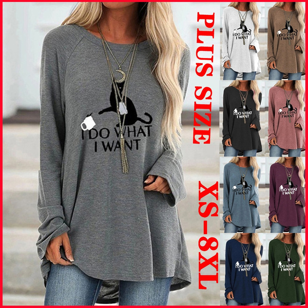 Plus Size, pullover women, tunic top, Long Sleeve