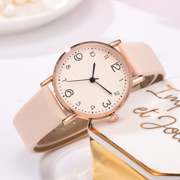 Fashion, leatherstrapwatch, Ladies Watches, Clock