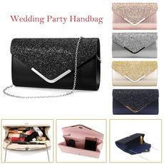 weddinghandbag, Glitter, Party Evening Bag, Chain