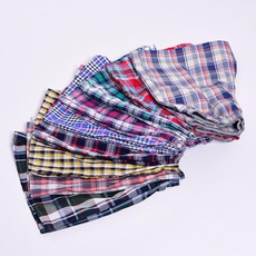 Summer, Underwear, plaid, Cotton