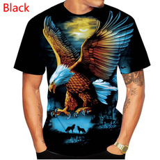 Eagles, Round neck, mencasualshirt, Animal