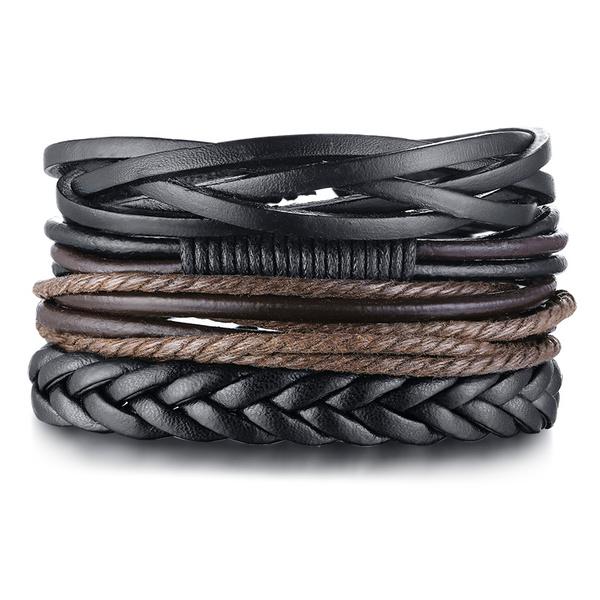 Charm Bracelet, braidbracelet, Jewelry, leather