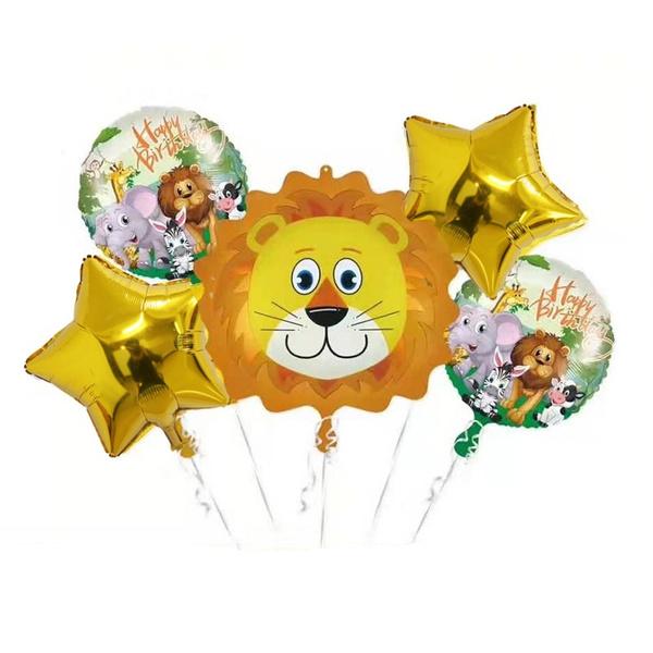 Toy, lionballoon, animalspartysupplie, tigerballoon