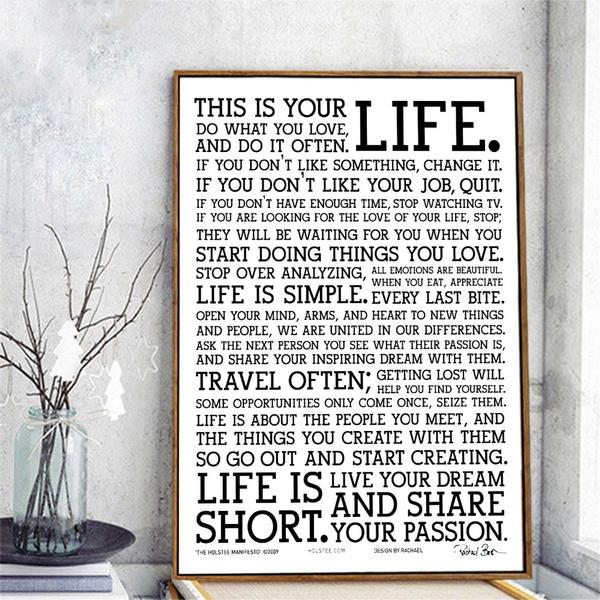 Decor, life quotes, Wall Art, Home Decor