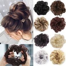 Hairpieces, hairbun, Elastic, wigscrunchie