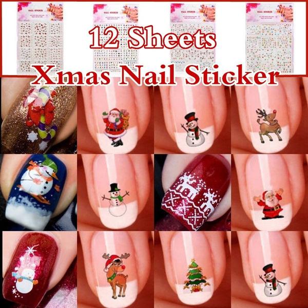 xmas3dnailartsticker, nail decoration, nail stickers, art