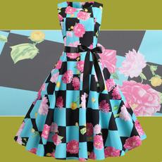 Fashion, Dress, Swing, Floral dress
