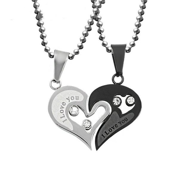 Steel, Heart, chainnecklaceformen, Love