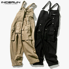 trousers, pants, loosedungaree, Cargo pants