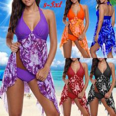 Two Piece Swimwear, Plus Size, Halter, bathing suit