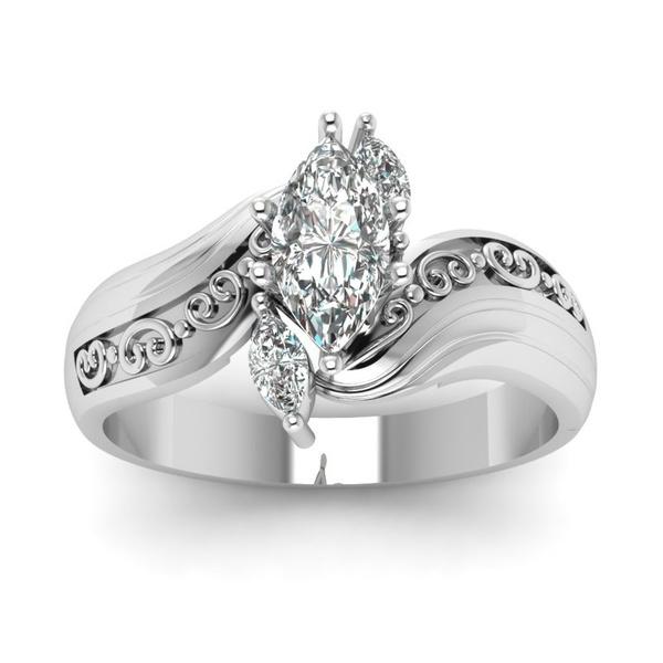 Beautiful, Silver Jewelry, DIAMOND, carvingring
