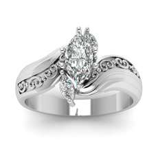 Beautiful, Silver Jewelry, DIAMOND, carvingring