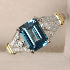 Blues, yellow gold, DIAMOND, Jewelry
