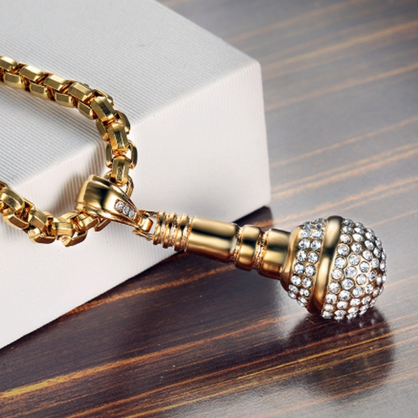 Steel, Party Necklace, Microphone, necklaces for men