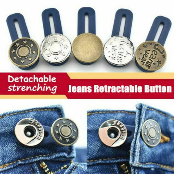 pantsbutton, Adjustable, button, Metal