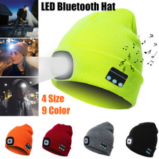 Beanie, led, lights, Cap