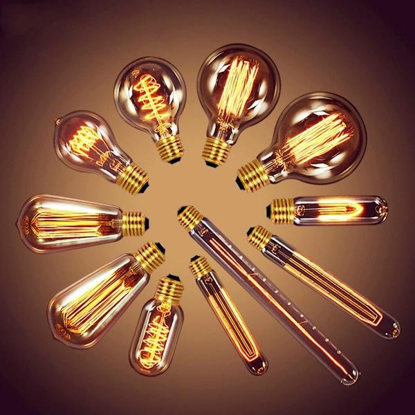 Antique, ledlightbulblamp, 3dfireworksbulb, Bulb