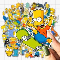 Car Sticker, Simpsons, suitcasesticker, windowsticker