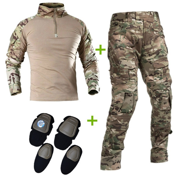 """1//6th Soldier Sergeant Uniform Cam Pants Trousers Combat Boots Clothes Suit 12/"""""""