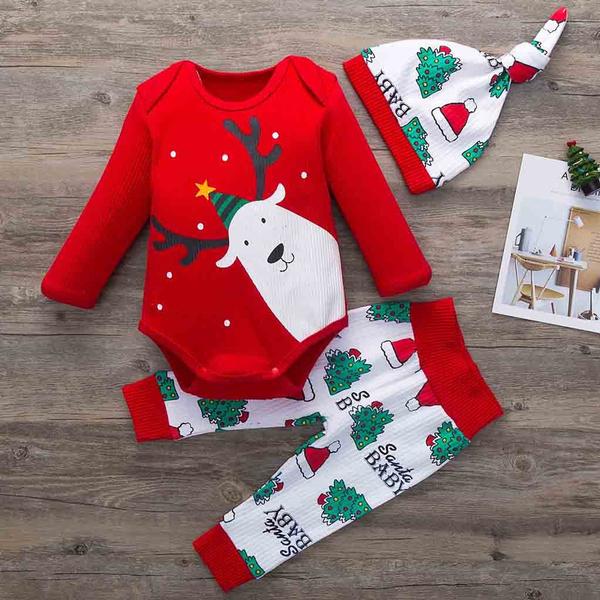 Baby, Christmas, pants, Long Sleeve