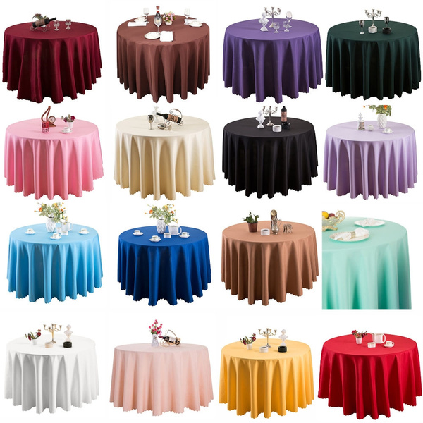 Table Cloth Linen Dining, Round White Tablecloths For Wedding