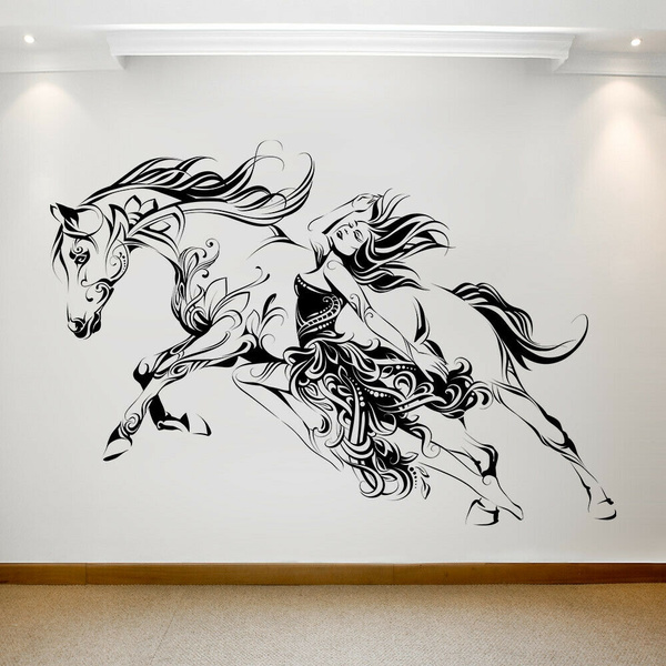 horse, Wall, transfer, 087