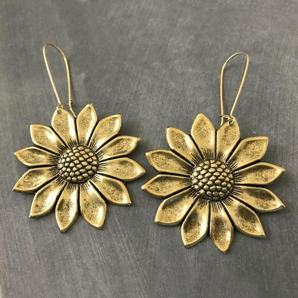 vintagehoopearring, Dangle Earring, Jewelry, vintage earrings