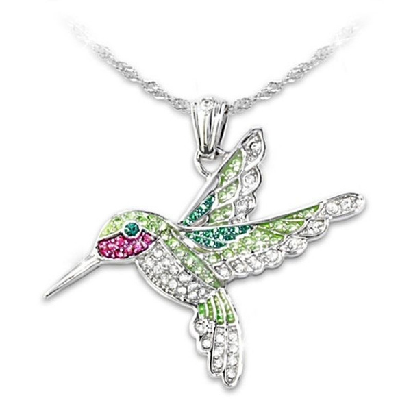 Fashion, gemstonenecklace, Jewelry, hummingbirdnecklace