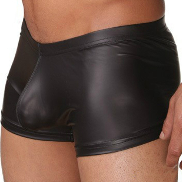 Underwear, Shorts, Men Shorts, leather