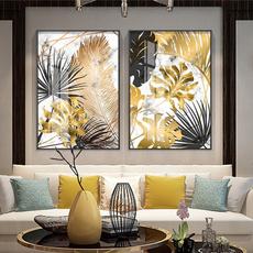 golden, art, Home Decor, canvaspainting