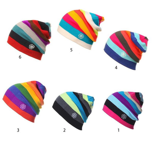 rainbow, Beanie, Fashion, Winter
