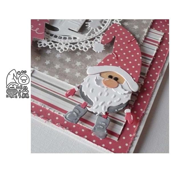 album, stencil, diescutting, Santa Claus
