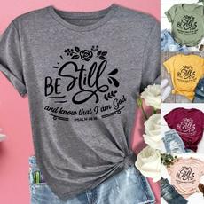 Fashion, Christian, Cotton T Shirt, Sleeve