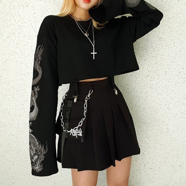 Goth, Fashion, crop top, gothic clothing