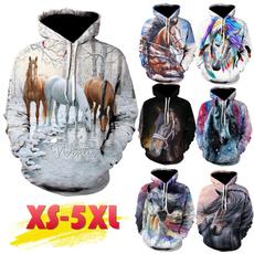 horse, hooded, Nature, Long Sleeve