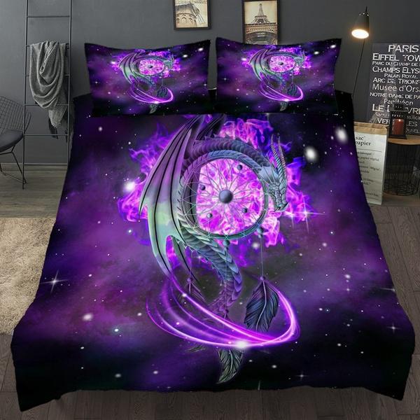 Dragon Dreamcatcher Bedding Set Queen, Dragon Bedding Sets Queen