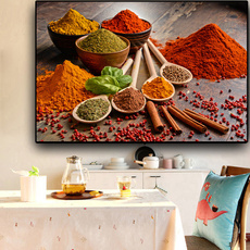 ingredientoilpainting, art, Kitchen & Home, Colorful