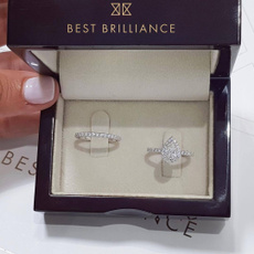 Sterling, White Gold, Silver Jewelry, Engagement Wedding Ring Set