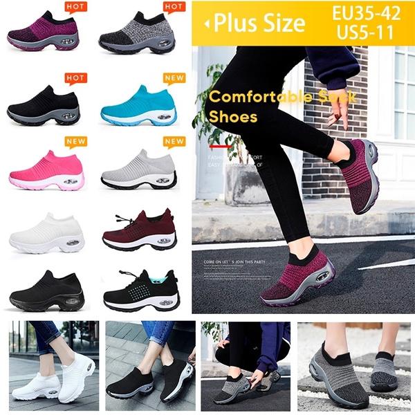 Walking Shoes Sock Sneakers Slip Air
