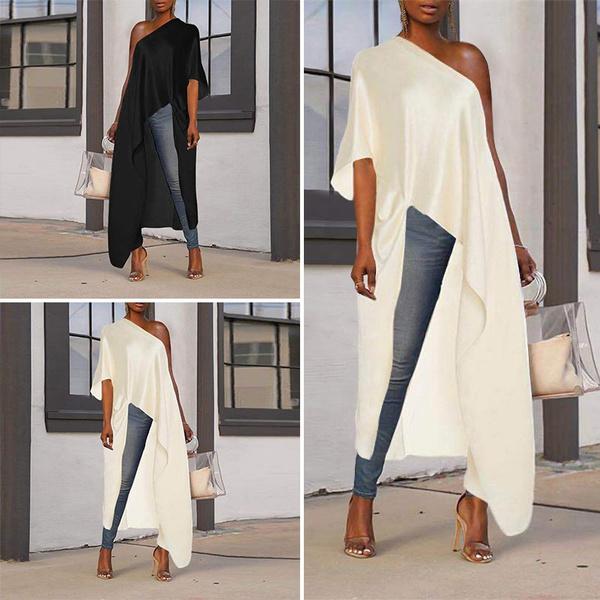shirtsforwomen, blouse, Plus Size, asymmetricblouse