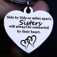 Heart, sister, Key Chain, christmaspresent