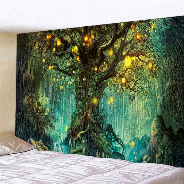 Fashion, Wall Art, Colorful, psychedelictapestry