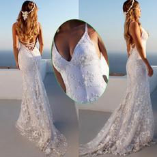 Deep V-Neck, whitedressesforwomen, Formal Dress, dressesforwomen