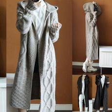Plus Size, longcoatsforwomen, sweater coat, knitted